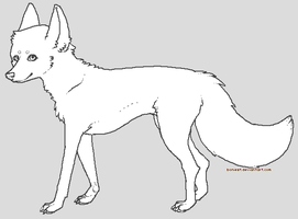 free dog lineart by boniest