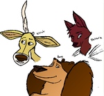 Open Season sketches colored by The-Ravens-Of-Moraea