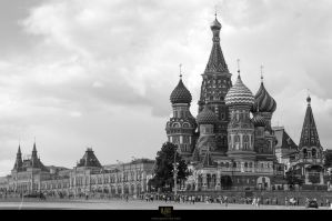 Saint Basil's Cathedral and Red square by PavelChe