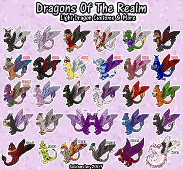 Dragons of the Realm: Light Dragon Collection by GoldenstarArtist