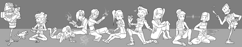 4 RP Group Heroes n Villains by athorment