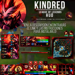 League of Legends HUD - Shadowfire Kindred by AliceeMad