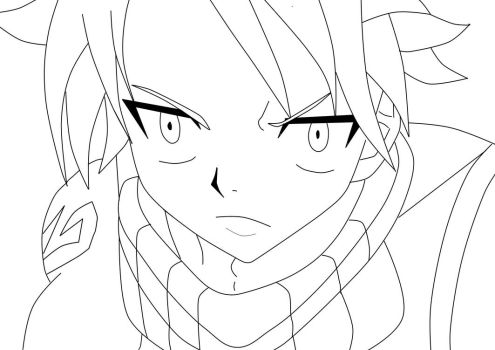 Natsu (without color) by Jwwt