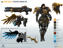 Pharah_Aquila [Overwatch Fan-made Skin] sheet by Taonavi