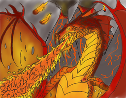 World of Dorgia: Fire Dragon by msfightera