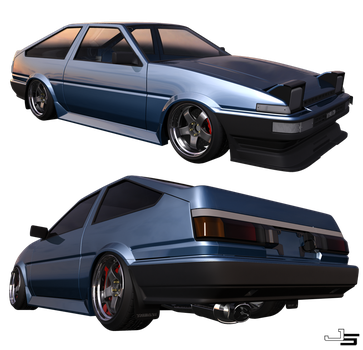 AE86 test render1 by ObsidianReaper