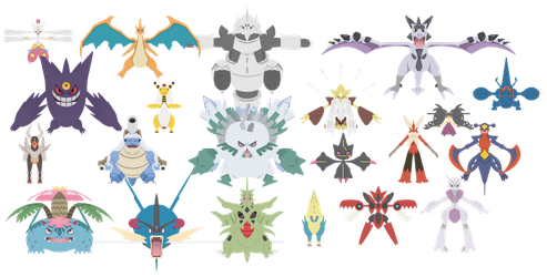 PokePack X and Y - #2 Mega Evolutions (Unrigged) by NipahMMD