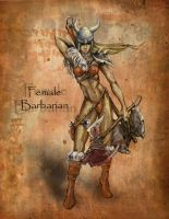 Female Barbarian by ravenofsorrows