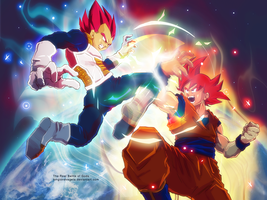 DBZ - The Real Battle of Gods by longlovevegeta