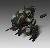 Medium Assault Mech by L3monJuic3