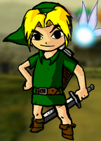 Young OoT Link WindWaker style by Nenilein