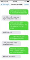 Stage Mess Up: Grande and Nathan Text by MysticalSorcery