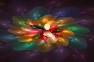'Light Flame Abstract 251' by SBricker