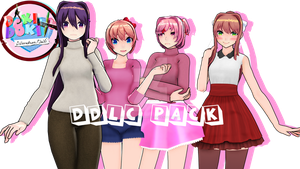 [MMD X DDLC] Full Casual clothing Pack! by RadioactiveBhabie