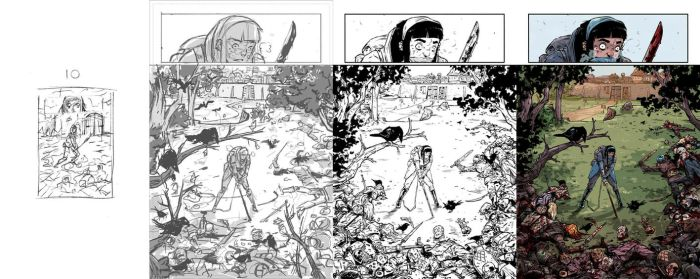 AMALAS BLADE #2 page11 process. by TheWoodenKing