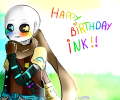 HAPPY BIRTHDAY INK !! by Lysame