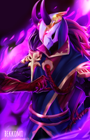 League of Legends: Blood Moon Jhin by bekkomi