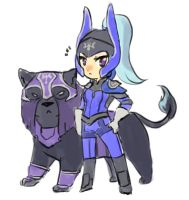Dota2 - Chibi Luna by spidercandy
