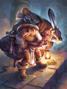 Hearthstone - Loyal Sidekick by JayAxer