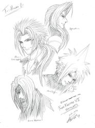 commission samples 2 FFVII by Silent-Neutral