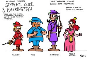 Scarlet, Tuck and Barrington (2006) by MDKartoons