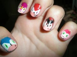 Sonic Nails by Happylod3