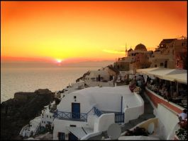 Greece - Santorini Sunset by AgiVega