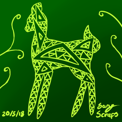 Prize: Fractal Deer by SaryTheWolf