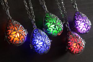 Elvish Glowing Drop Necklace by CatherinetteRings