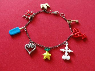 Kingdom Hearts charm Bracelet updated by silverbeam
