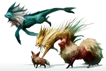 Eeveelutions - Kanto by MrRedButcher