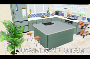 Kitchen scenery [MMD] [DL] by Deiroko