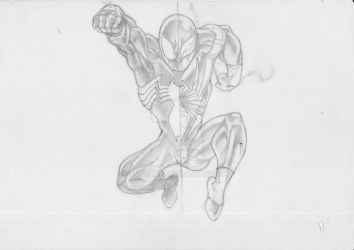 Black-Iron Spidey by guygar79