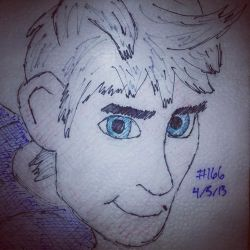 Napkin Art 166 - J. Frost - Rise of the Guardians by PeterParkerPA