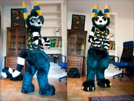 My updated fursuit - Charna by Smallblacksticky