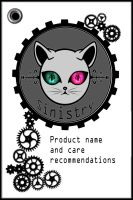 Sinistry label card by Miss-Gato