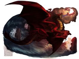 .: Great Welsh Red Dragon :. (Redraw) by SweetElectricity