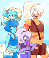 SU-Going To The Beach by 763Lilypadpandaowl