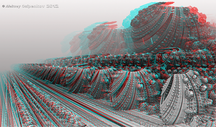 Keepers of Time Anaglyph 3D Stereoscopy by Osipenkov