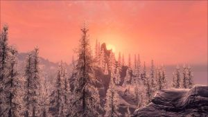 Skyrim Sunset III by Aenea-Jones