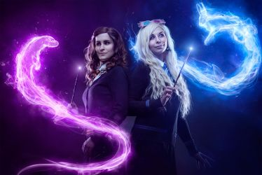 Patronus! Hermione Granger and Luna Lovegood by Reign-Cosplay