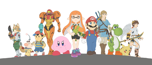 (WIP 2) Smash Bros. Switch by DeannART