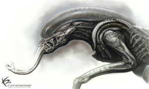 Alien Hybrit Design by KENBARTHELMEY