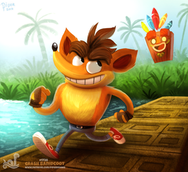 Daily Painting 1728# Crash Bandicoot by Cryptid-Creations