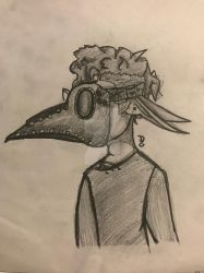 Elf + Plague mask = Awesome by WolfPupDraws
