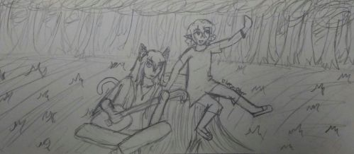 Rue And Shaylee-OCs by blurryblurr