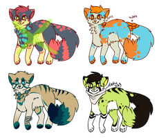 Auction Adoptables -CLOSED- by Olivvin-Adopts