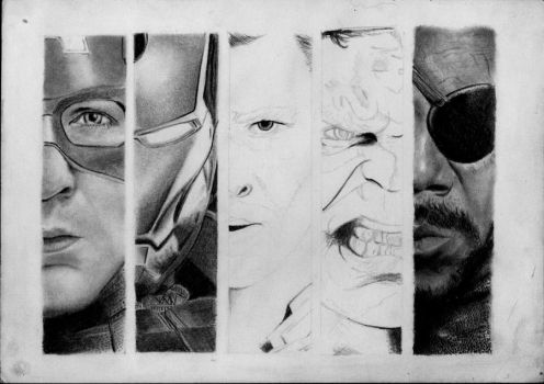 The Avengers - WIP by hiloody
