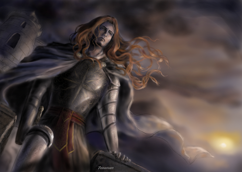 Maedhros at Himring by annamare