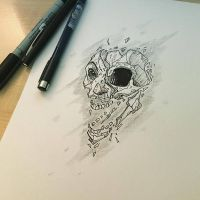 skull face design by Anny-D